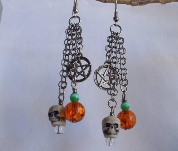 Halloween Samhain Chainmail Earrings