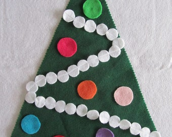Mini Felt Christmas Tree and Ornaments - for Felt Board
