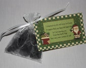 Coal Tart, Black Coal Candle, Coal Poem, Great Stocking Stuffer for the Naughty Person on your list