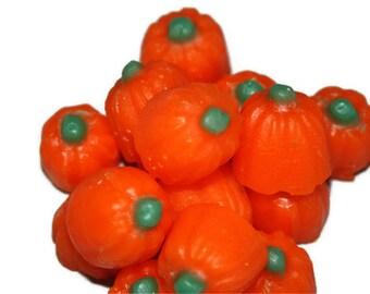 Pumpkin Tart Candles, Halloween Pumpkin Melts, Scented in Candy Corn, Wax Fake Food, 1.5 Ounce Package
