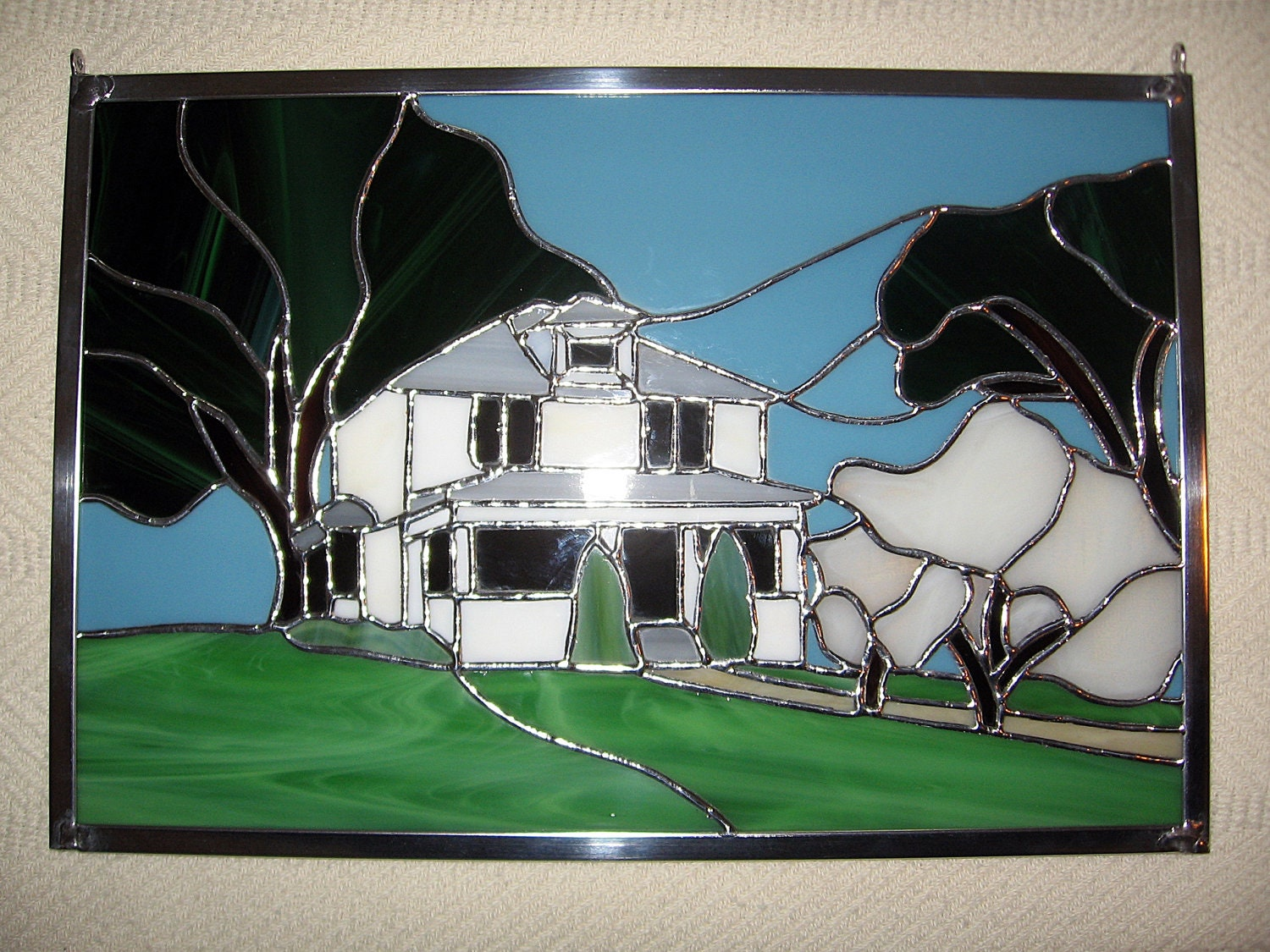 Custom stained glass panel custom stained glass window for Decorative stained glass windows