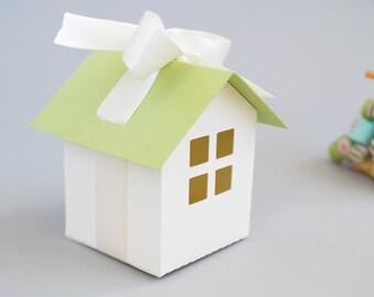 Mini House Favor Box Set of 12