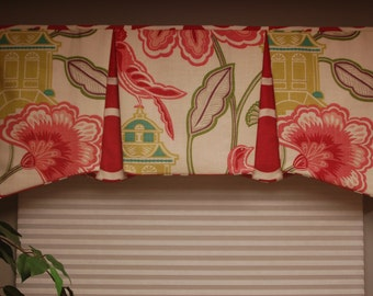 "Custom 81""- 115"" wide width  EMMA Hidden Rod Pocket® Valance, your fabrics, my LABOR and lining"
