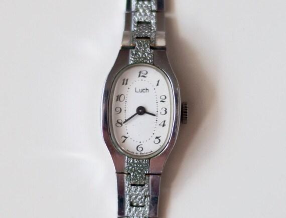 "Soviet watch Russian watch Women watch Mechanical watch women's wrist ladies ""LUCH"" USSR Vintage Year:70"