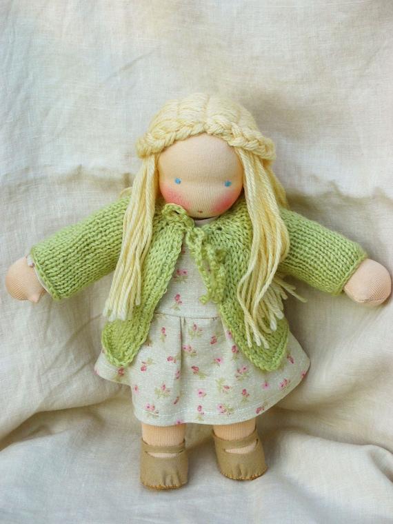 CUSTOM ORDER - RESERVED for Svijetlana Waldorf doll 12 inch by Puppula
