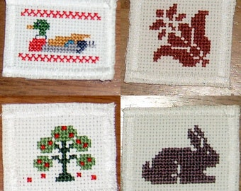 Cross Stitch Scrapbook Embellishments