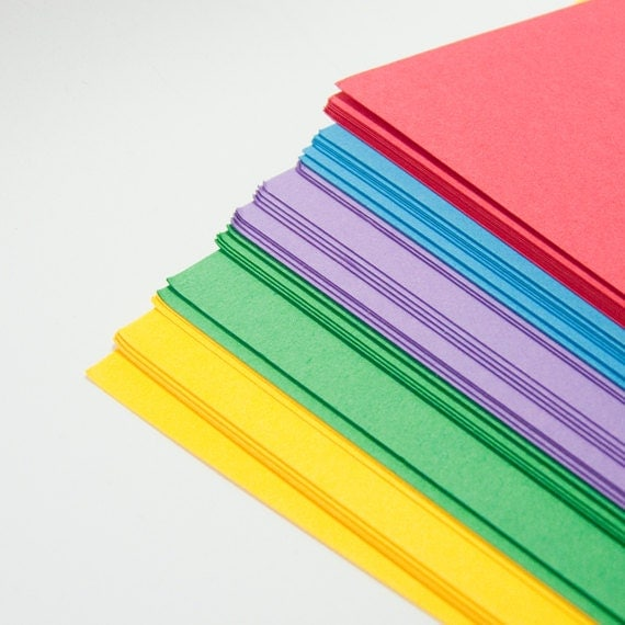 "Discounted - bright card stack - 50 sheets - 8""x8"" - seconds - UK"