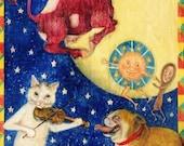 5 Nursery Rhyme Greeting Card Designs