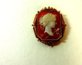 Cameo with Gold Tone, Vintage Jewelry