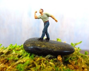 Take This Job and .....Tiny Terrarium Accessory, Funny Miniature,  Moss Terrarium Decor, Tiny Person Mooning