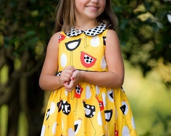 INSTANT DOWNLOAD Girls Dress PDF Sewing Pattern Karesa by Nanoo Designs