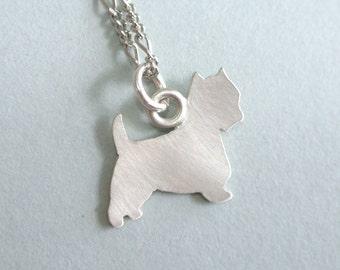 Westie Pendant Necklace, personalized westie charm necklace, westie jewelry, westie necklace
