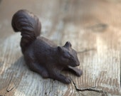 Squirrel made of cast iron.  Figurines, woodland, rustic, home decor.