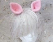 Baby Pink Pony Ears Cosplay Hair Clips (custom colours welcomed)