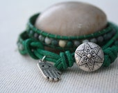 Jade green colored bracelet.