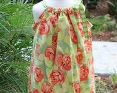 Love Tumblerose in Tangerine Pillowcase Dress - Available in Sizes 3