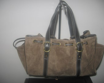 Vintage Suede Leather Bag and Purse    CLEARANCE.....was 30.00