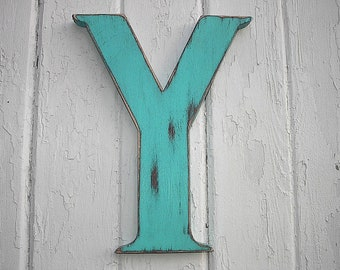Rustic Wood Letter bi 12 inch letter Y Initial Alphabet Wedding Decoration Nursery Kids Wall Home Decor