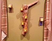 Driftwood Candle Wall Hanging