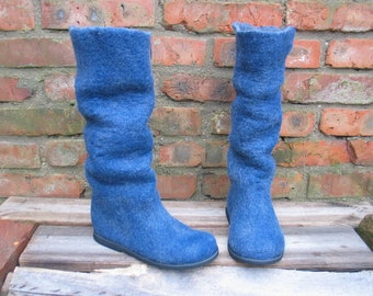 Felted boots LOOK-LIKE-JEANS