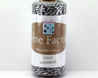Black Bakers Twine 240 Yards Full Spool 4 Ply