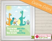 8x10 Nursery Print - We Have Everything (Dragons, Knight, Castle)