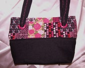 Skulls, Roses, Hearts, and Denim convertible purse/tote.