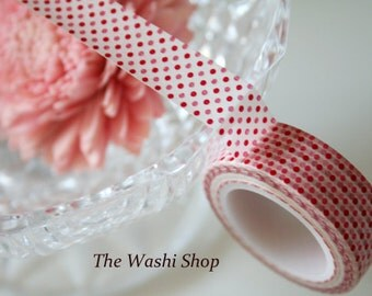 Red and Pink Polka Dots Washi Tape
