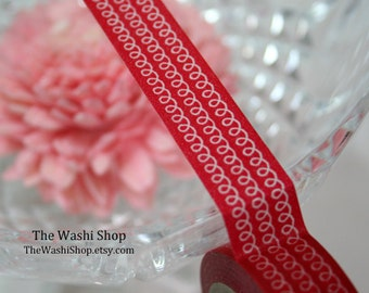 Red Swirls Washi Tape