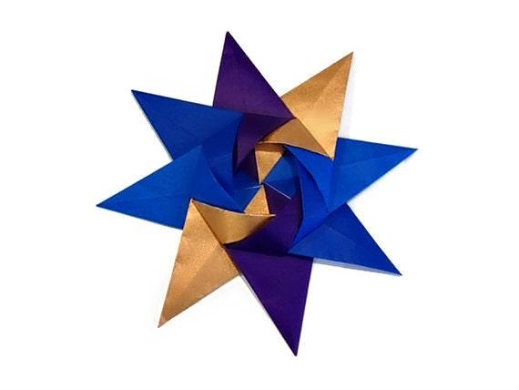Galaxy Origami Kalami Star (Designed by Christine Blasek)