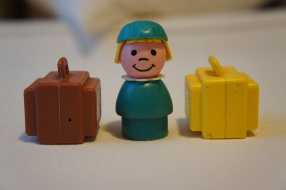 Fisher Price Little People Flight Attendant and Luggage