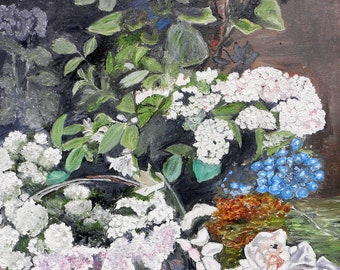 Replica of Monet's Spring Flowers - 100% hand painted oil on canvas
