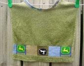 Infant Baby Toddler Washcloth Washrag Wash Cloth Terrycloth Bib Green John Deere Accent
