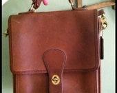 vintage caramel coach station bag