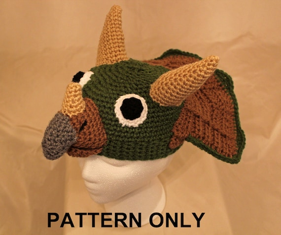 Crochet Pattern Notation : PATTERN: Terry Triceratops Crochet Hat by FunDesignsByDiana