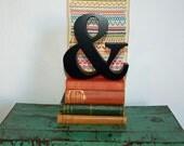 Vintage Wooden Ampersand - AND - Rustic - Shop Sign - Large - Shop Letter