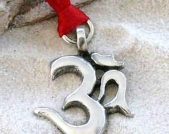 Pewter Ohm Om Aum Yoga Namaste Meditation Buddhist Christmas Ornament and Holiday Decoration (30C)
