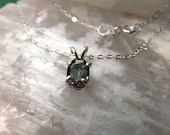 "7x5mm Mystic Topaz & Sterling Silver 18"" Necklace"