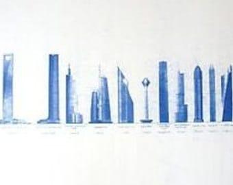 World's tallest Skyscrapers Blueprint