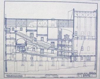 Fulton Theater In Pittsburgh Blueprint