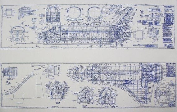 Space Shuttle Blueprint By Blueprintplace On Etsy