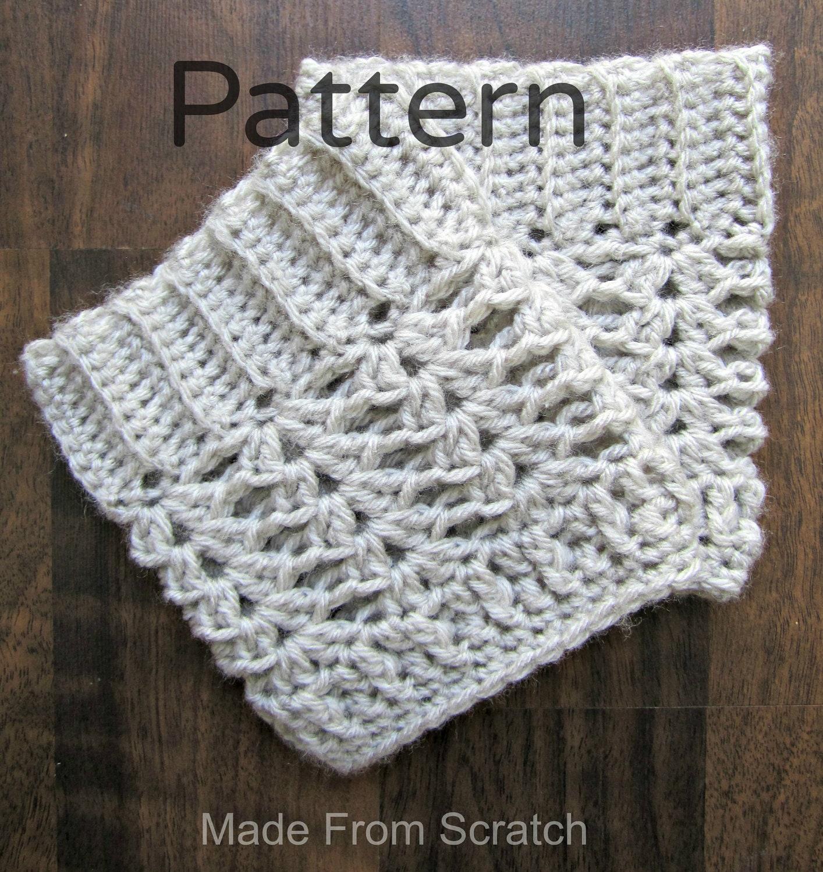 crochet boot cuff leg warmer pattern pdf