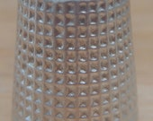 Collectible Antique English Sterling Silver Thimble - Size 14