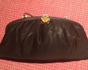 Vintage Black Evening Purse Handbag
