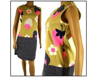 Vintage 1960s Dress Plus Size Culottes Designer Couture Mad Man Femme-Fatale Retro Rockabilly Garden Party Pinup Cocktail