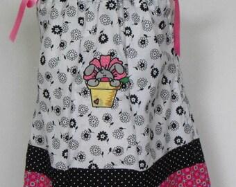 Girls Embroidered Pillowcase Dress, girls dress, girls pillowcase dress, girls embroidered dress, embroidered dress, girls summer dress