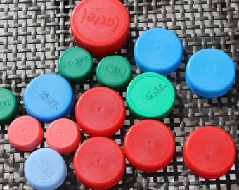 Plastic bottle caps - various colours