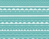 Lace Border Clip Art - Digital Scrapbook Borders