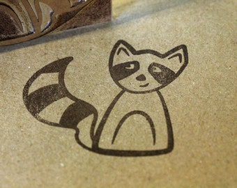 Ricky Racoon Rubber Stamp