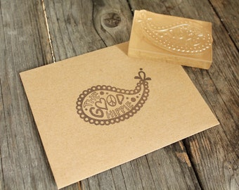 "Custom Logo Stamp ( 2"" x 2"" ) - Custom Stamp - Clear Rubber Stamp"